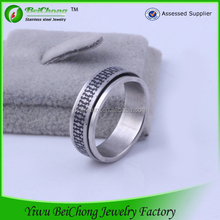 Factory new design cheap wholesale men stainless steel ring blanks