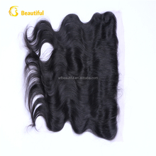100% unprocessed brazilian lace frontal closure 13x4 bady wave hair natural color