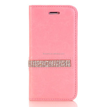 FL2739 Hot Cheap Crystal Glittering PU Leather Wallet Stand Unique Cell Bag Stone case phone diamond for Iphone 6 6S