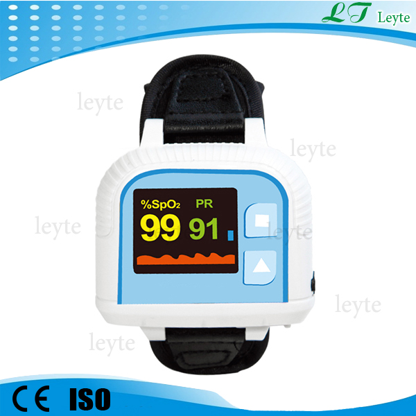 "Prince-100G color Wrist oximeter pulse with 1.1"" OLED display FDA CE"