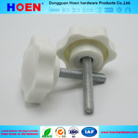 plastic head screw knob with threaded bolt