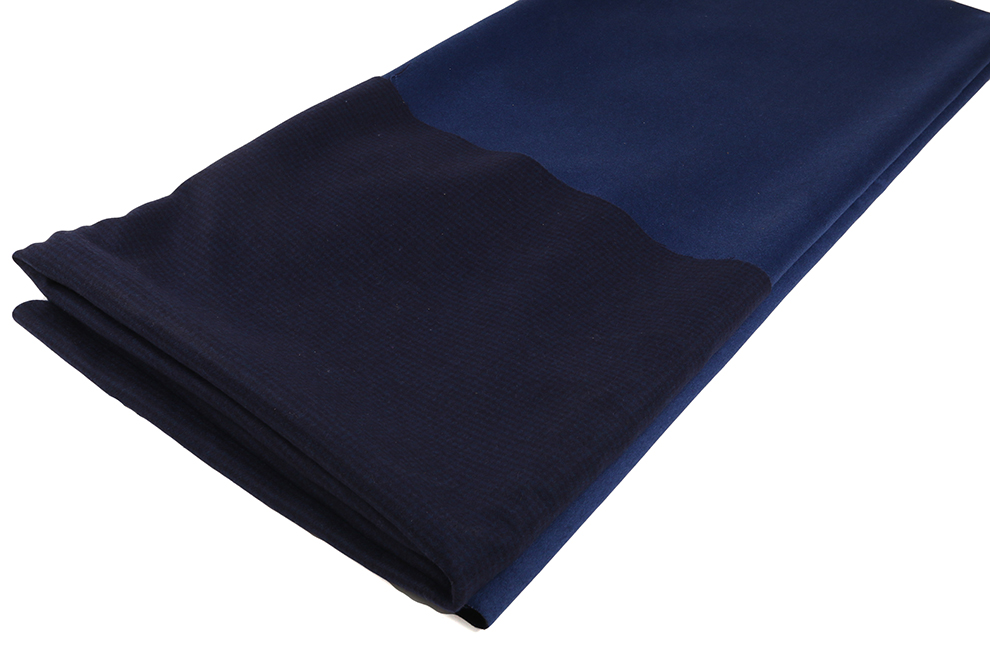 new fashion unique denim blue men Double-side woolen fabric