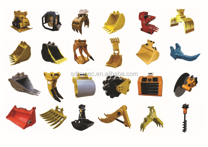 excavator spare parts,excavator attachments
