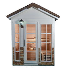 Finland prefabricated wooden house Outdoor sauna steam room