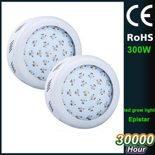 double chip 220V EU plug grow led light UFO type 22Red+5Blue+1White+1IR+1UV 300W lights