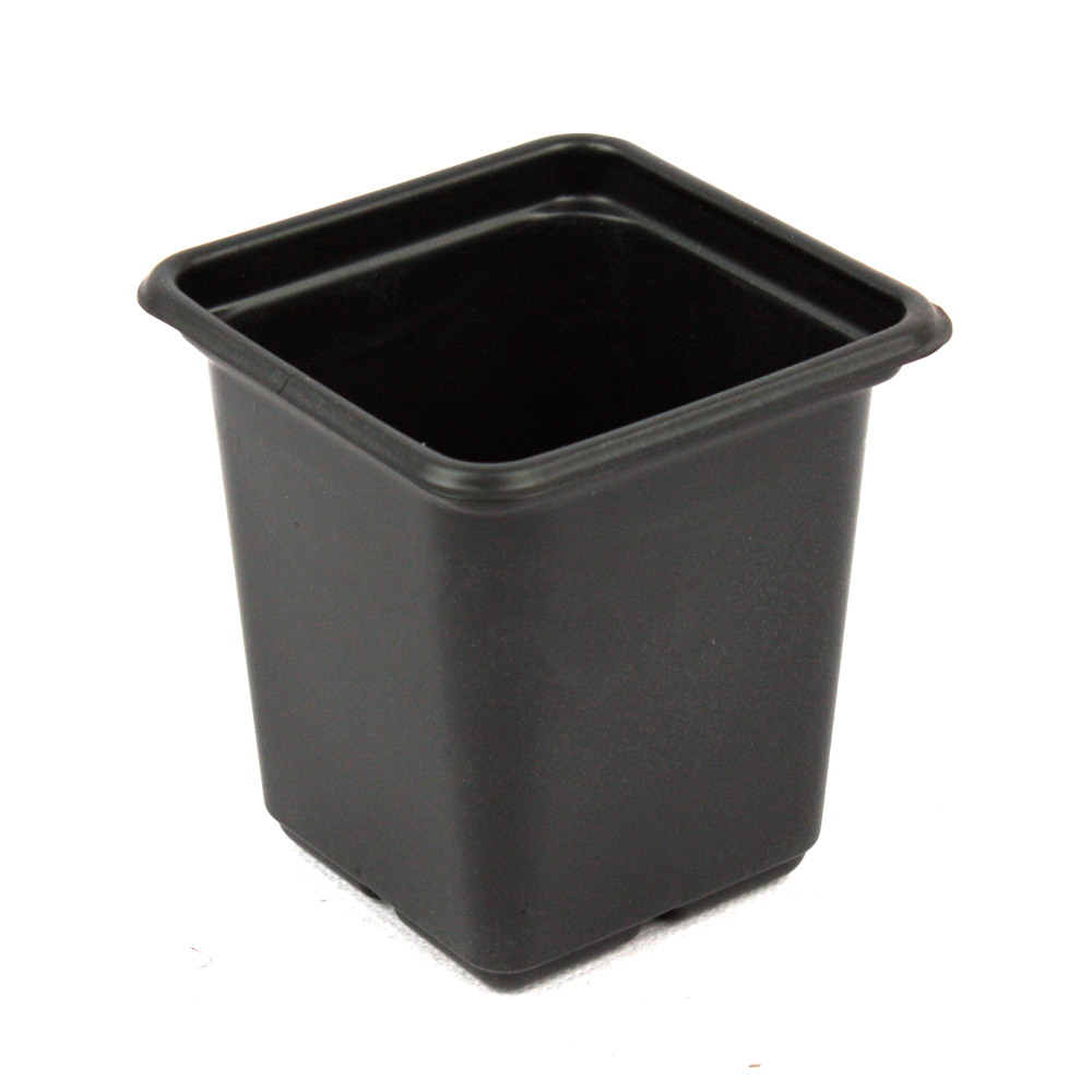 Wholesale Indoor Outdoor Small Square Black Plastic Flower Plant Pots