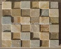 Golden yellow cultured stone slate