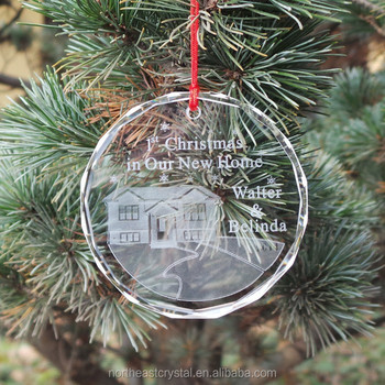 Shinny Clear Crystal Glass Christmas Tree Decoration Factory Selling