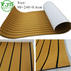 "94.5""x35.4"" high quality surfboard non-slip mat yacht synthetic teak decking EVA marine flooring mat EVA Foam Decking"