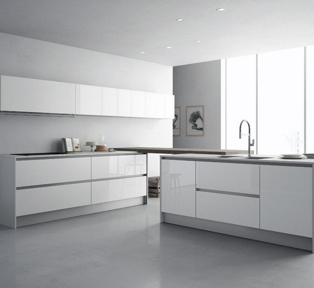 Linkok Furniture Modern big room luxury furniture gloss lacquer kitchen design