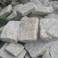 Sand color granite tumbled stone,paving stone,garden stone