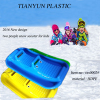 new design plastic snow chinese snowmobiles toboggan sledge for kids and adult winter play