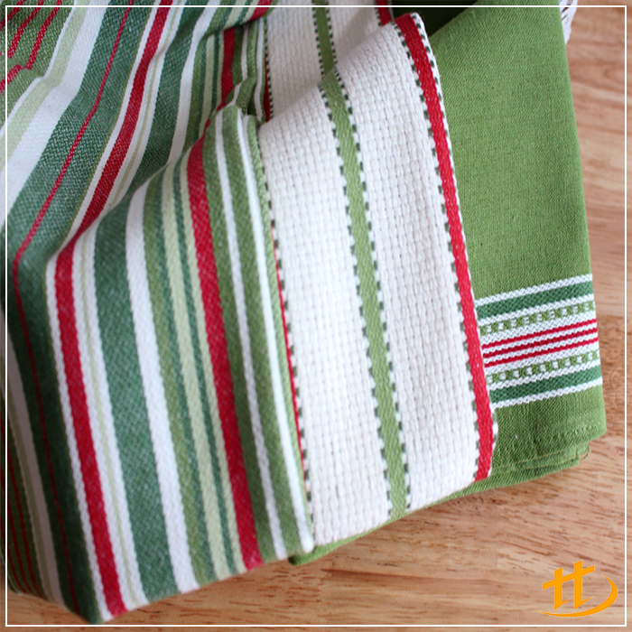 High Quality Soft touch Stylish Colorful Cotton Stripe Design Pattern Tea Towel magic towel