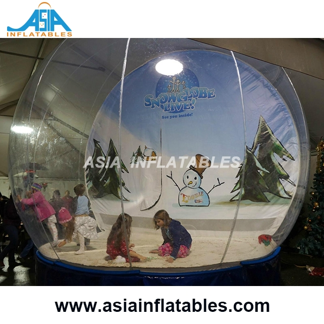 Giant Inflatable Human Size Snow Globe For Sale / Christmas Snow Globe Inflatable For Sale