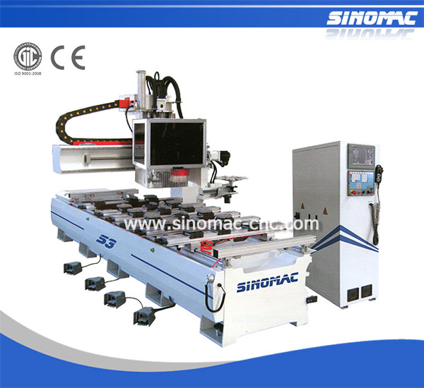 Lathe Centre CNC Router Sinomac S3-1230SA-ATC Drilling Wood Carving