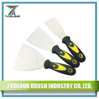 Plastic & Rubber Handle Stainless Steel Scrapers Trowel Putty Knife