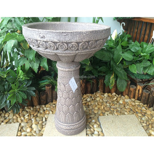Top quality garden stone bird bath bowl