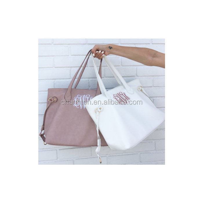 Wholesale Fashion Women PVC Monogram Blank Tote Bag