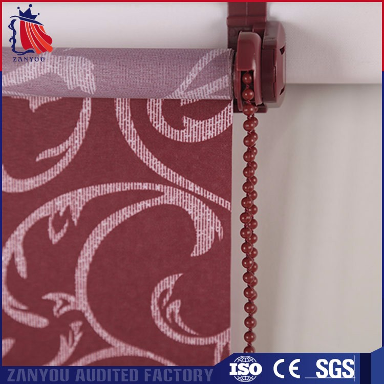 Best Quality 100% Polyester Window Roller Shades Pull Up Blind