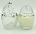 100ml clear glass material egg shaped candy empty jar
