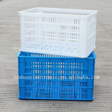 Customized Double Injection Plastic Fruit Vegetable Revolving Basket for Supermarket Factory Storage