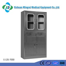 Good quality 304 stainless steel hospital dental instruments cabinet