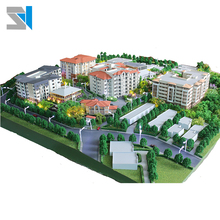 Advanced scale model with light, real estate 3d model printing