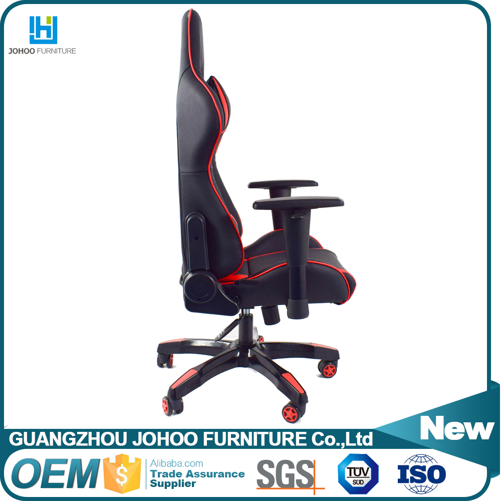 Wholesale Price Cyber Cafe Furniture High Back Ergonomic Swivel PU Leather Custom Gaming Chairs with Wheel Base