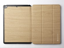 Wood case for ipad air 16gb 3 folds smart cover flip case