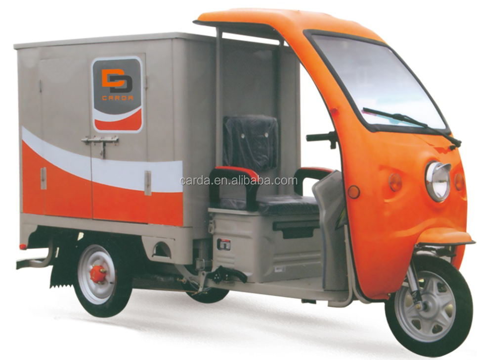 waterproof closed electric tricycle for express delivery