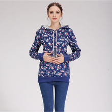 Wholesale Plus Size Emotion Moms Floral Maternity Nursing Breastfeeding Hoodie Sweatshirt Knitted Clothes