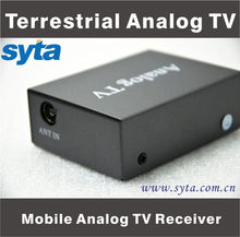 SYTA Freeview Analog Auto TV Receiver Analog TV Tuner Box for Car Mobile Work to LCD S2012A
