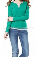 O-collar pullover Casual lady blouse