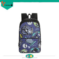 2015 leisure multi beauty patterning style black teenage girls and boys waterproof nylon dry backpack bag cooler bag for sale