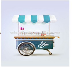 Hot sale ice cream cart design and customize for sale