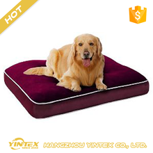 Customer Unique Design Accept stripe print or solid style wholesale best memory foam comfort pet dog bed