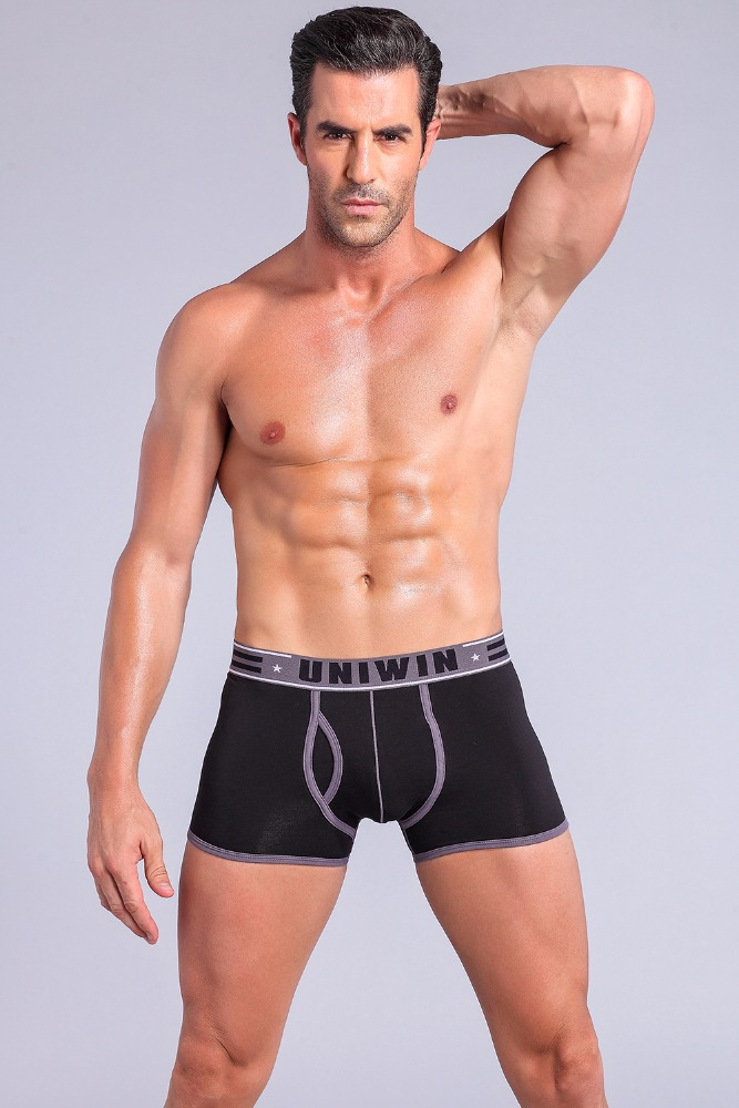 Sexy boxers for men Fashion mans basic high waist underwear