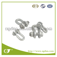 China Manufactured Galvanized bow anchor shackle