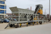New simple hauling ready mixed YHZS50 mobile concrete batching plant price