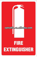Fire Extinguisher UV inhibitor PP Safety Emergency Signs