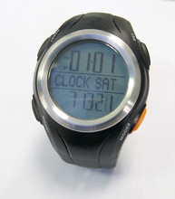 Digital waterproof bike speedometer led watch with calorie counter