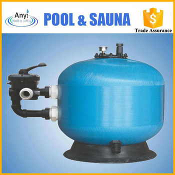 Multimedia swimming pool silica blue sand filter