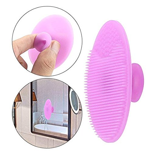 Spa home  private  label portable silicone face and body  facile cleaning brush