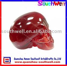 Crystal Skull Heads With Red Color