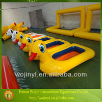 Inflatable kids hand paddle boat/yellow duck mini boat/pedal boat