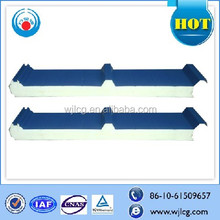 water and fire proof PU/polyurethane sandwich panel for wall and roof