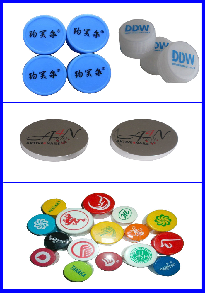 High speed high stability Four colors bottle-cap pad printer with 6 moulds