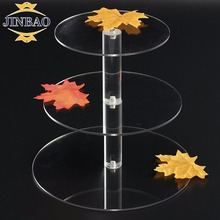 JINBAO Clear Floor Standing Acrylic Cake Decorating Baking Pops Tool Stand Display