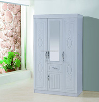 laminate wardrobe designs with white flower color for bedroom furniture