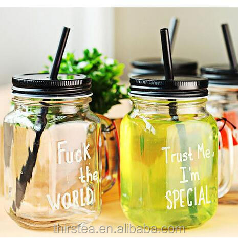 Summer Cold Drink Infusion Bottle with straw Ice cream Fruit Installed Water Bottles Mason Jar Mug Jarras indoor Camping bottle